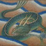アジアの龍 Dragon d'Asie  50×61cm  カンバスに油彩 l'huile sur toile  2009