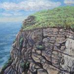 ロカ岬 Cabo da Roca   73×60.6cm カンバスに油彩  l'huile sur toile   2001