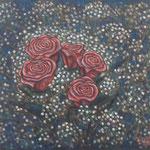 ブーケ Bouquet  46×55cm  カンバスに油彩 l'huile sur toile 2016