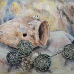 静物 Nature morte   60.6×72.7cm カンバスに油彩  l'huile sur toile   1997
