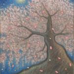 SAKURA  Le cerisier  92×73cm  l'huile sur toile  2010