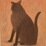 優雅な猫Le chat élégant  61×50cm カンバスに油彩 l'huile sur toile  2005