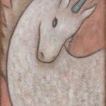 ユニコーン Unicorne  41×33cm カンバスに油彩  l'huile sur toile  2007