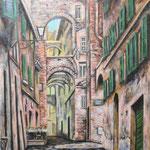 シエナ Sienne (Siena)   72.7×60.6cm カンバスに油彩  l'huile sur toile   2000