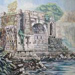 Le pont brisé (Ponte rotto)  Rome  Italie   72.7×91cm   l'huile sur toile   1999