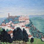 カサレス Casares   Espagne   45.5×53cm カンバスに油彩  l'huile sur toile   2001