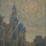 陽光Rayons du soleil  55×46cm  カンバスに油彩 l'huile sur toile  2009