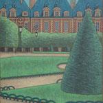 ヴォージュ広場 Place des vosges  116×89cm カンバスに油彩  l'huile sur toile  2008