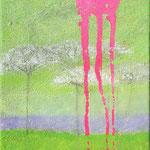 o.T, Mischtechnik auf Leinwand, 40 x 24 cm