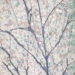 fragil 2, Mischtechnik auf Leinwand, 90 x 30 cm