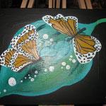 Schmetterling und Wassertropfen