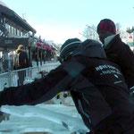 Festival de musique sur glace (2015, Norvège): construction du balafon