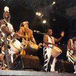 Avec Moussa Dembele, Ousmane Dembele et Kalifa Diarra à Wiesen(Autriche) 2001