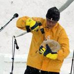 Festival de musique sur glace (2015, Norvège): construction des calebasses
