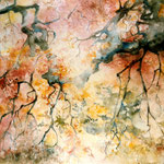 """ A travers les feuilles"" Format 50 x 60"