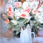 """Vase blanc"" Format 50 x 60"