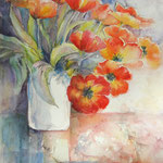 """Tulipes rouges"" Format 50 x 70"