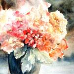 """""""Vase bleu"""" Format 50 x 60"""