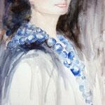 """""""Le colier bleu"""" Format 50 x 60"""