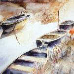 """Barques d'automne"" Format 40 x 50"