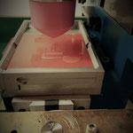 Skalierung und Einstellung der Tampondruckmaschine