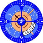 Zifferblattentwurf mit Datumanzeige für JS Downunder
