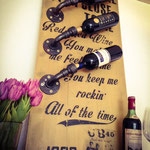 Wine Rack, Red Red Wine, Industrial Style, Handcrafted by Man Cave Signs & Co.