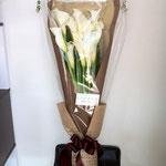 カラーの花束5,000円税別。