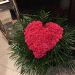 特大ハート型アレンジ、40,000円税別、豊川市、花屋