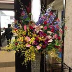 開店祝スタンド花 15,000円税別、豊川市