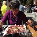 Mittagessen im Restaurant Val-des-Dix in Pralong