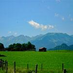 Allgäuer Alpen südlich von Hinang