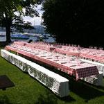 Sommerfest BBQ und Life Musik direkt am Vierwaldstätter See, Schweiz