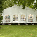 Zelt für die Abendveranstaltung