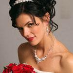 Peinado novia tiara