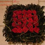 Coussin carré en fleur stabilisées