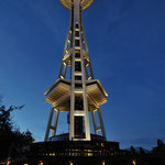 Space Needle Center in Seattle, Washington State by Volker Abt
