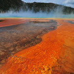 Grand Prismatic im Yellowstone, Wyoming by Volker Abt
