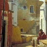 Straßenszene in Jaisalmer by Volker Abt