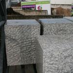 Granit G 603, 1 Seite poliert, 40/40/50cm