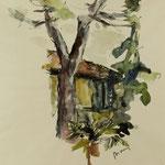 "Detail aus dem ""Haus am Balkan"" - 50x65cm"