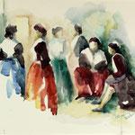 Tanzgruppe Südfrankreich - 50x65cm