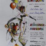 Einladung zum Atelier - Druck Coloriert - A4
