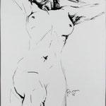 Tusche auf Japanpapier - 60x80cm
