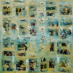 """Le Thanh Thu  """"Abstract 2""""  75x75cm"""