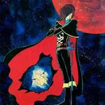 """""""Космический пират капитан Харлок"""" 1978 Space Pirate Captain Harlock 宇宙海賊キャプテンハーロック персонаж аниме созданный художником манга Leiji Matsumoto."""