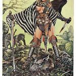 Uriah Heep. Постер посвященный выходу альбома Fallen Angel 1977.