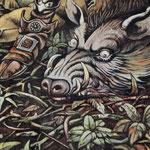 Uriah Heep. Постер посвященный выходу альбома Fallen Angel 1977.фрагмент