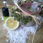 Geschenk für meine Teilnehmer/Zitronen-Meersalz-Peeling (Foto privat)