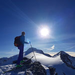 Walter auf dem Furggeltihorn - Vals Graubünden Schweiz